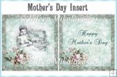 Vintage Mother's Day Card Insert
