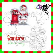 Santa's Post and sentiment Digi stamp