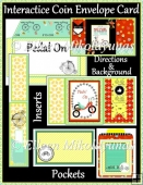 Pedal On Interactive Coin Envelope Flip Card Set