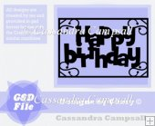 Happy Birthday Frame in svg and gsd
