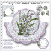 Dainty Flowers Scalloped Rocker Card Kit