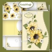 Wavyedge Sunflower card set