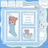 COSY CHRISTMAS SQUARES 7.5 Quick Layer Card & Insert
