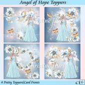 Angel of Hope Toppers or Card Fronts