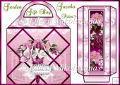 Cottage Chic Garden Gazebo LARGE Gift Bag