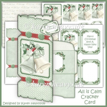 All Is Calm Cracker Card