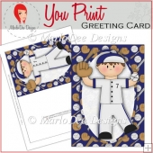 Baseball Boy 5x7 Full Greeting Card & Card Front