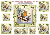 Christmas Robins - Ten Card Toppers & Gift Tags - Set Two