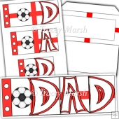 Dad England Football Word Book Set