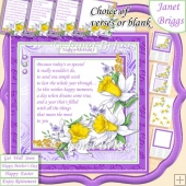 DAFFODILS & VARIOUS VERSES Many Occasions 7.5 Decoupage Kit