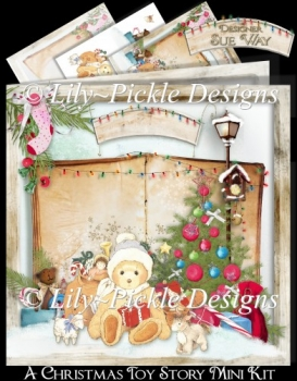 A Christmas Toy Story Card Mini Kit