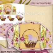 4 fold Card Home Easter Basket
