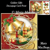 Golden Gifts - Decoupage Card Front