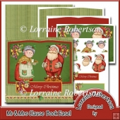 Mr & Mrs Claus - Open Book Easel