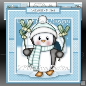Penguin with Mistletoe Mini Kit
