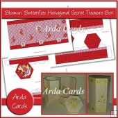 Bloomin' Butterflies Hexagonal Secret Treasure Box