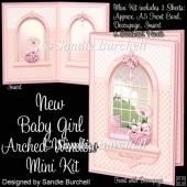 New Baby Girl Arched Window Mini Kit
