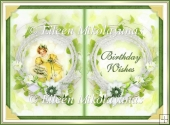 Sunny Birthday Wishes Open Book Card Insert/Topper