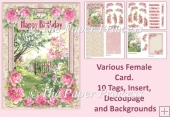 Watercolour Garden. Female Various Card