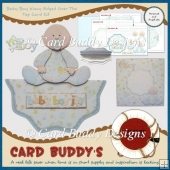 Baby Boy Wavy Edged Over The Top Card Kit