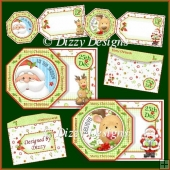 Rudolph and Santa Tag Cards