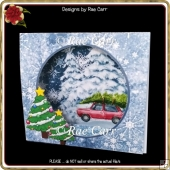 096 Winter Scene Tent Card