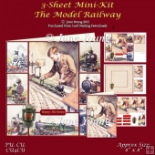 Model Railway 3-Sheet Mini-Kit