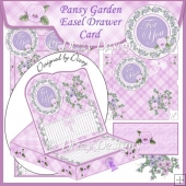 Pansy Garden Easel Drawer Card