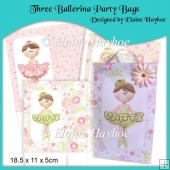 Three Ballerina Party Bags