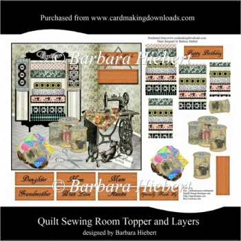 Quilt Sewing Room Topper and Layers