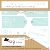 12 'Let it Snow' Christmas Tags