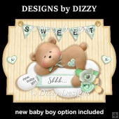Sweet New Baby Boy & Girl Cards