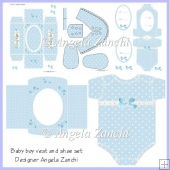 BABY BOY VEST CARD SET