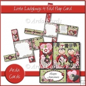 Little Ladybugs 4 Fold Flap Card