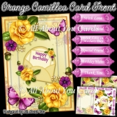 Orange Camillea Card Front and Insert Plate