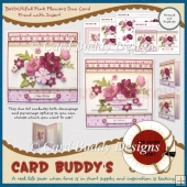 BeYOUtiful Pink Flowers Duo Card Front with Insert