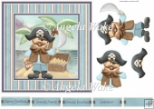 Pirates chest of gold 7x7 card