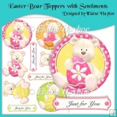 Easter Bear Toppers with Sentiments