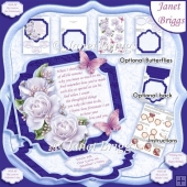 WHEN I THINK VERSE Large Easel Card Kit & Decoupage 7.7