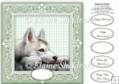 "Handsome Husky - 8"" x 8"" Card Topper"