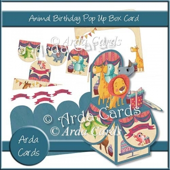 Animal Birthday Pop Up Box Card