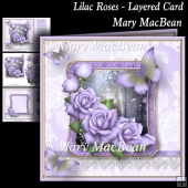 Lilac Roses - Layered Card