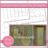 Hexagonal Secret Treasure Box CU Template