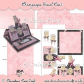 Champagne & Glasses Easel Card