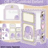 Off Set Gatefold Card Elefant