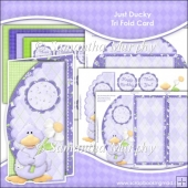 Just Ducky Scalloped Edge Tri Fold Card Download