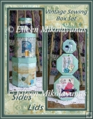 Vintage Sewing Stacking Box Set