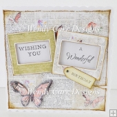 8 x 8 INCH SQ SWEET BUTTERFLY CARD