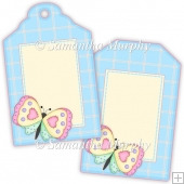 Butterfly Gift Tags - REF_T684 & REF_T685