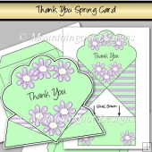 Thank You Flowers Spring Card